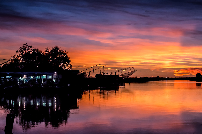 Fishing House at sunset