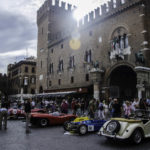 1000 Miglia Historical car race stop in front of Town Hall